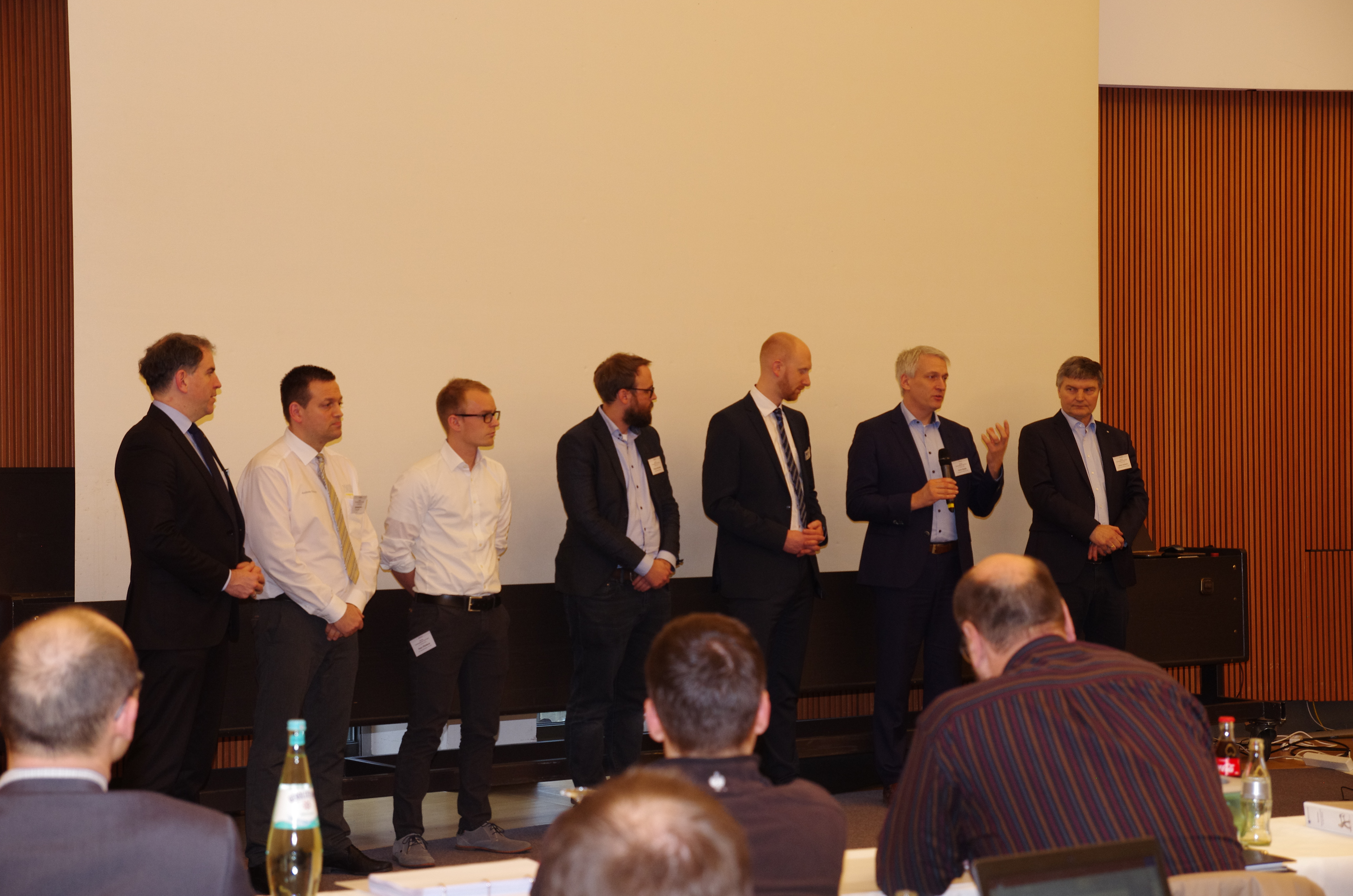 V.l.: Boris Kaiser, Andreas Kratzer, Peter Pfleiderer, Philipp Steinwarz, Dominique Preis, Armin Decker, Johann Hofmann